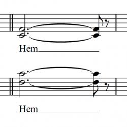 Noten von einem Musicalmedley